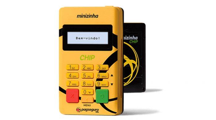 minizinha-chip-700x389 7 Melhores Máquinas de Cartão de Crédito que dispensam celular em 2019
