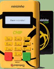 minizinha-chip-231h 7 Melhores Máquinas de Cartão de Crédito que dispensam celular em 2019