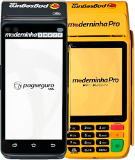 moderninha-pro-e-smart-231h SumUp Total ou Moderninha: Qual a melhor máquina de cartão com recibo?